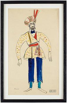 John Jon-And, watercolour/gouache, stamped signature.