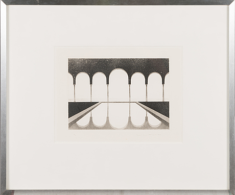 Pentti lumikangas, aquatint and drypoint, signed and dated 1977, numbered 18/70.