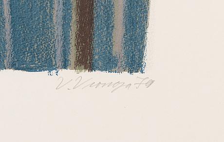 Veikko vionoja, litograph, signed and dated 1979, numbered 42/100.