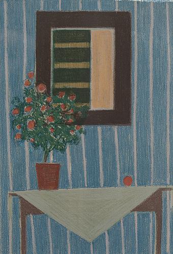 Veikko vionoja, färglitografi, signerad och daterad 1979, numrerad 42/100.