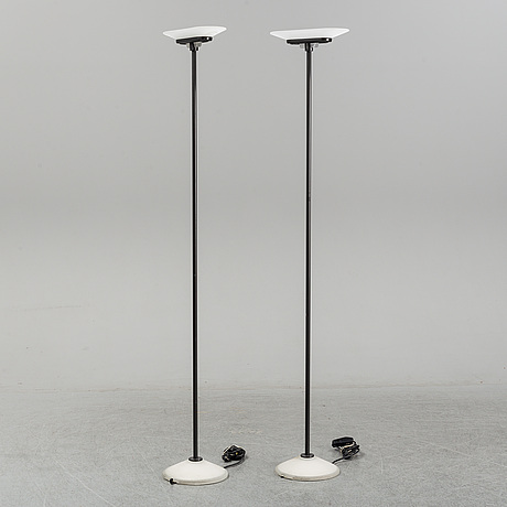 Perry king, santiago miranda & gianluigi arnald, a pair of 'jill' floor lights, arteluce, italy.