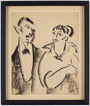 John Jon-And, pastel, 1910-20s, signed.