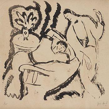John Jon-And, lithograph, 1916, signed 1/25.