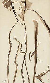 John Jon-And, watercolour, stamped signature.