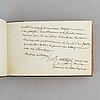 Stambok tillhörig casimir lewenhaupt, som avled 1816 efter duell. bidrag av bl. a. sophie von knorring.