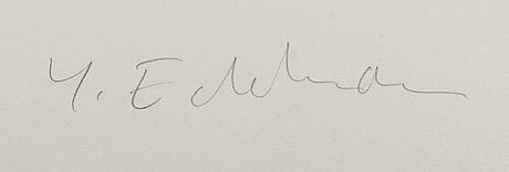 YrjÖ edelmann, färglitografi signerad och numrerad 56/150.