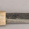 Tore sunna, a sami knife, signed t. sunna, vettasjärvi, sweden.