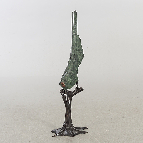 Skulptur 1900-tal kallmålad brons.