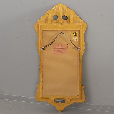 Spegel, rokokostil, ab glas & trÄ hovmantorp, 1900-talets mitt.