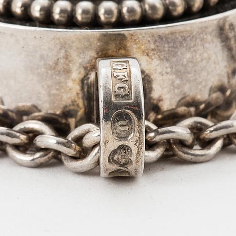 Silver and faceted rock crystal pendant, guldsmedjan forsman & gardfors  umeå 1970.