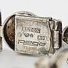 Silver and tiger eye bracelet, alton.