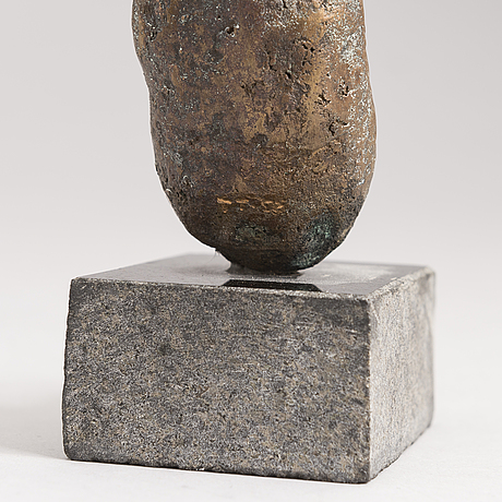 Teuvo tuomivaara, bronse, signed and dated -86.