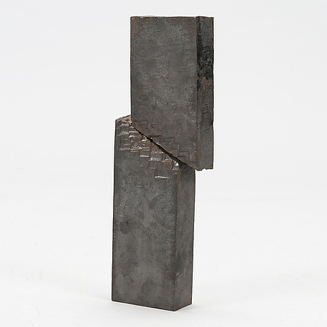 Risto immonen, sculpture, iron, signed and dated -97.