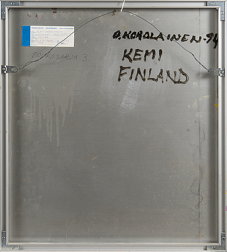 Olavi korolainen, akryl på aluminium, signerad och daterad 1994.