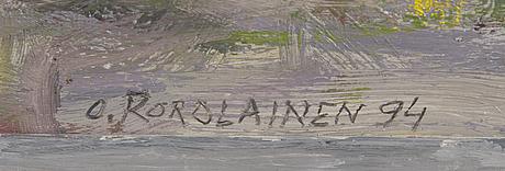 Olavi korolainen, akryl på aluminium, signerad och daterad -94.