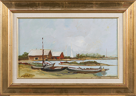 Olli joki, oil on canvas, signed and dated 1996.
