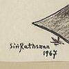 Siri rathsman, blandteknik, signerad och daterad 1967.