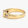 An 18k gold ring with radiant cut diamonds ca. 0.75 ct in total.