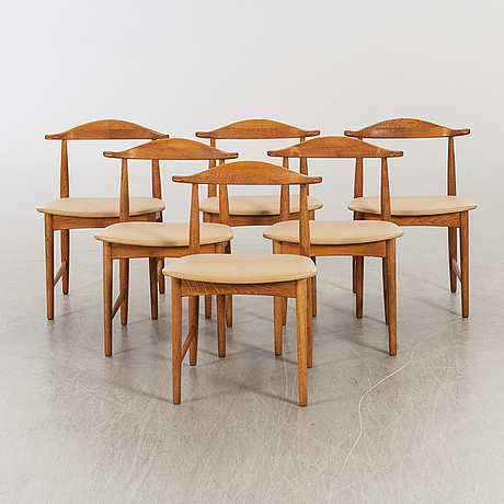 A set of 6 chairs mid 20th century.