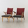 A two of easy chairs mid 20th century.