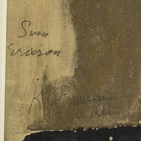 Sven x:et erixson, watercolour, signed and dated -22.