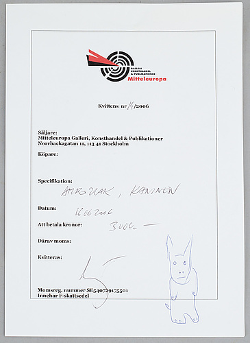Sylwester ambroziak, skulptur, signerad och daterad 6/9 -05.