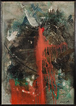 OLAVI HAARALA, oil on board, signed and dated 1960.