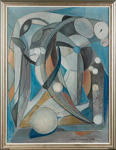 Olavi haarala, oil on canvas, signed and dated 1957.
