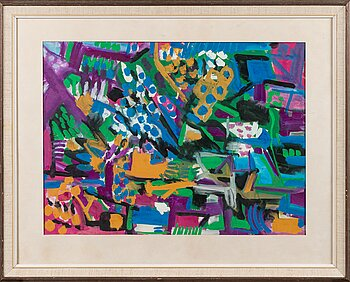 EINO RUUTSALO, gouache on paper, signed and dated 1959.