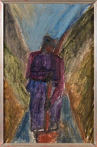 Olavi martikainen, oil on canvas, signed and dated -69.