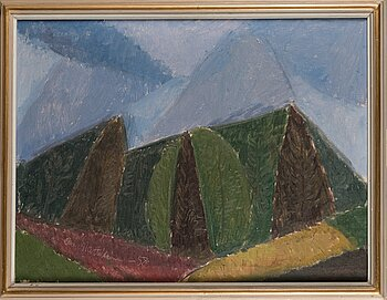OLAVI MARTIKAINEN, oil on canvas, signed and dated -58.
