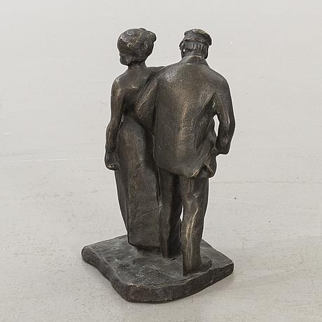 Carl eldh, bronsskulptur, signerad.