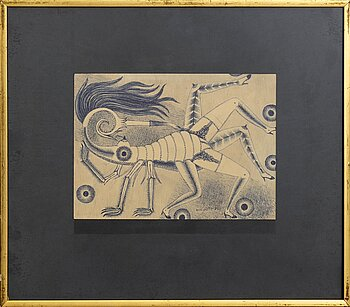 MAX WALTER SVANBERG, a signed and dated ink drawing.