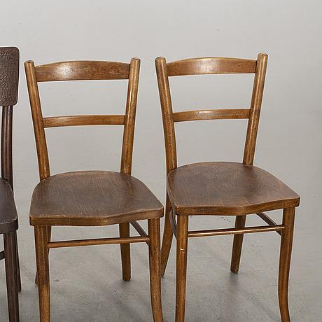 Stolar 2 + 2 st 1900-talets början thonet.
