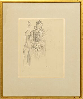 MAX WALTER SVANBERG, a signed and dated drawing.