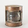 Lanternor samt lykta, 5 delar, koppar, bland annat rosengrens bleckplåtslageri malmö,  1900-talets första hälft.