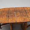 A 19th century gate leg table.