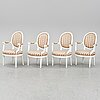 Four gustavian style armchairs from around year 1900.