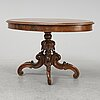 A late 19th century walnut table.
