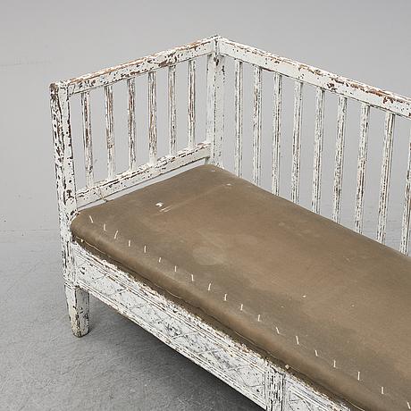 A 19th century gustavian style sofa.