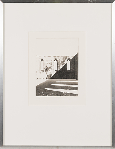 Pentti lumikangas, aquatint and dry point, signed and dated 1977, numbered 89/100.