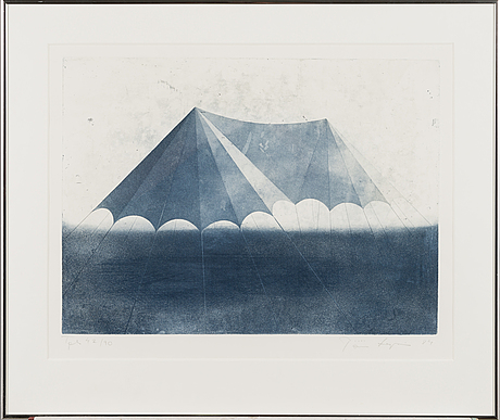 PÄivi lempinen, aquatint, signed and dated -84, numbered tpla 42/90.