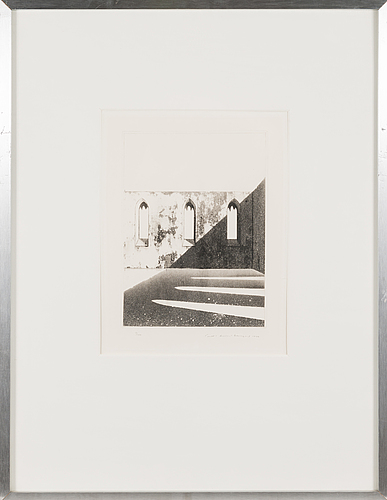 Pentti lumikangas, aquatint and dry point, signed and dated 1977, numbered 19/100.