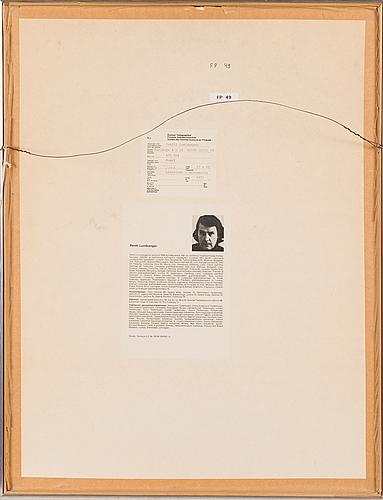 Pentti lumikangas, akvatint och torrnål, signerad och daterad 1977, numrerad 19/100.