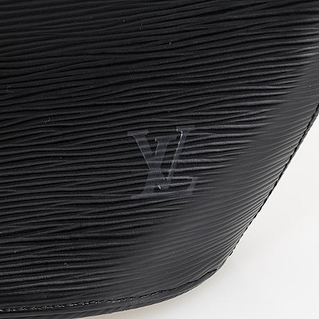 A black epi leather noctambule tote bag.