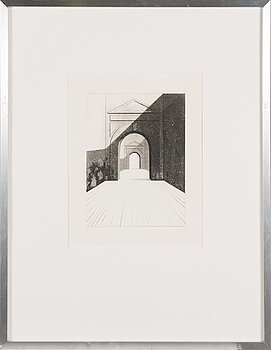 PENTTI LUMIKANGAS, aquatint and dry point, signed and dated 1978, numbered 17/70.