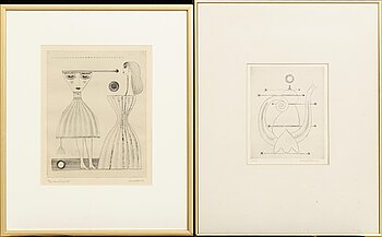 MAX WALTER SVANBERG, 2 signed and numbered etchings.