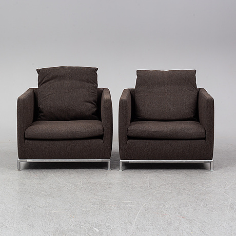 Antonio citterio, a pair of 'george gs80' easy chairs from b&b italia.