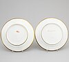 Two french porcelain dishes, paris, 19th century.