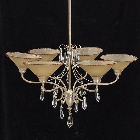 A 1920/30's art deco ceiling light.